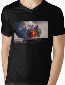Kilauea Volcano at Kalapana 8 Mens V-Neck T-Shirt