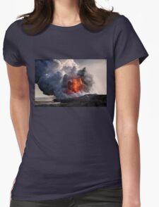 Kilauea Volcano at Kalapana 8 Womens Fitted T-Shirt
