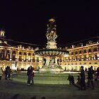 Bordeaux fountain at night by graceloves