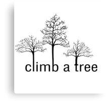 Climb a tree design Canvas Print