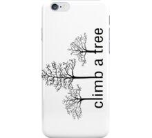 Climb a tree design iPhone Case/Skin