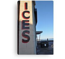 Ice's Whitley Bay Canvas Print