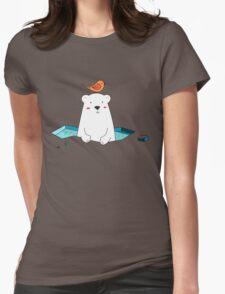 Cute Polar Bear and Bird  T-Shirt