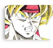 Bardock Will Eat You! Canvas Print