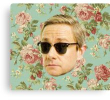 A Very Floral Martin Freeman Canvas Print