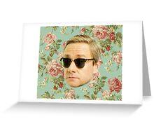 A Very Floral Martin Freeman Greeting Card