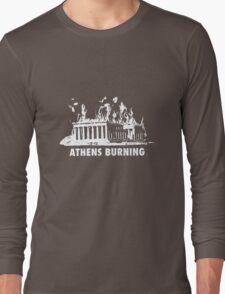 athens burning in stress Long Sleeve T-Shirt