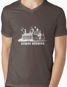 athens burning in stress Mens V-Neck T-Shirt