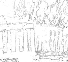 athens burning in stress Sticker
