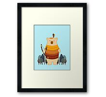 Brave Indian Bear Framed Print