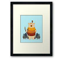 Brave Indian Bear Framed Print