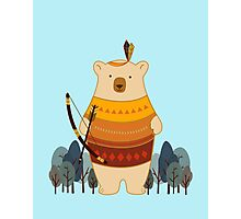 Brave Indian Bear Photographic Print