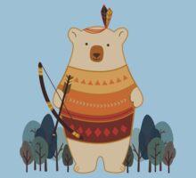 Brave Indian Bear One Piece - Short Sleeve