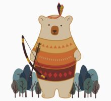 Brave Indian Bear Kids Clothes