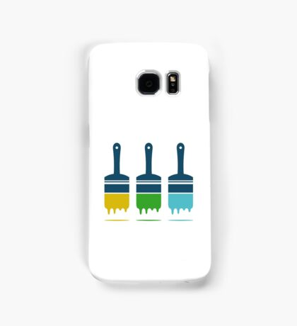 color brushes Samsung Galaxy Case/Skin