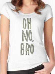 Regular Show / Oh no, Bro Tee Women's Fitted Scoop T-Shirt