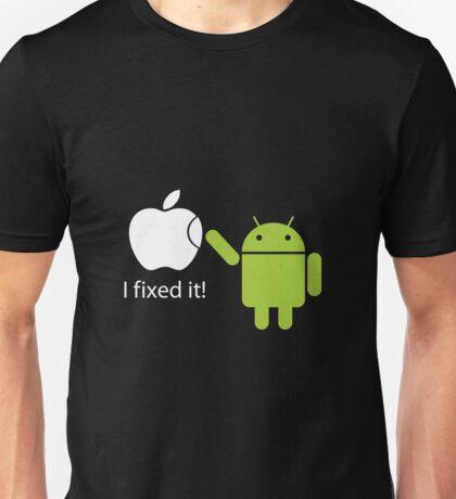 """I Fixed It"" - Android vs Apple Unisex T-Shirt"