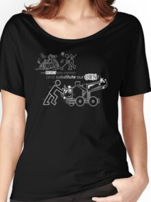 We Reject Your Cannon (Black/White Version) Women's Relaxed Fit T-Shirt