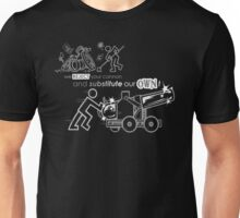 We Reject Your Cannon (Black/White Version) Unisex T-Shirt