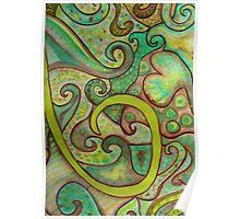 Earthy Swirls Poster
