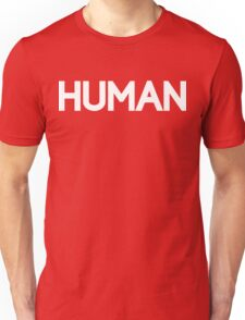 HUMAN [White Ink] Unisex T-Shirt