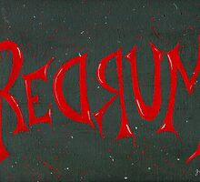REDRUM Lettering by finchandcanary