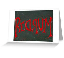 REDRUM Lettering Greeting Card