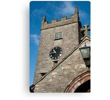 Hawkshead Church Tower Canvas Print