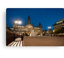 george square at night Canvas Print