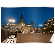 george square at night Poster