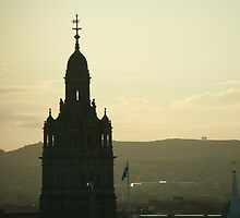 Glasgow City Hall silhouette by photoeverywhere