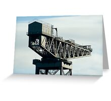 Clydeport Crane, Glasgow Greeting Card