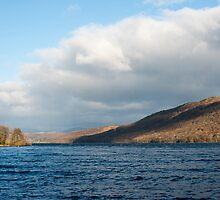 Scenic landscape view of Lake Coniston, Cumbria by photoeverywhere