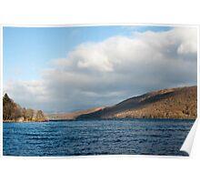 Scenic landscape view of Lake Coniston, Cumbria Poster