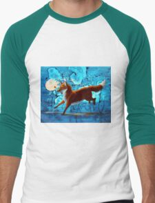 Fantasy Red Kitsune Fox Illustration T-Shirt