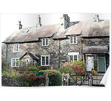 Quaint stone cottages at Skelwith Bridge Poster