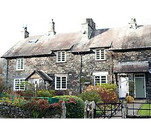 Quaint stone cottages at Skelwith Bridge Photographic Print