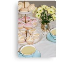 Cuppa, Cake & Cookies Canvas Print