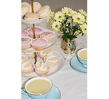 Cuppa, Cake & Cookies Photographic Print
