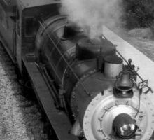 Steam Train in the Station. Sticker