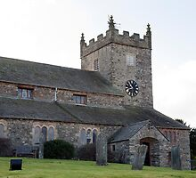 Graveyard and view of Hawkshead church by photoeverywhere