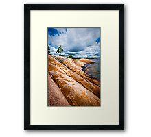 Rocky shore of Georgian Bay Framed Print