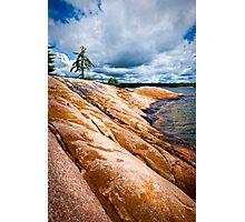 Rocky shore of Georgian Bay Photographic Print