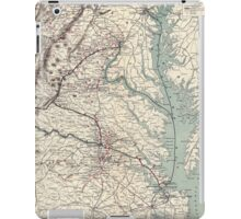 Civil War Maps 1074 Map showing the location of battle fields of Virginia compiled from official war records and maps for the Chesapeake Ohio Railway Co iPad Case/Skin