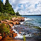 Rocky shore in Georgian Bay by Elena Elisseeva
