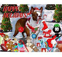 The Santa Dog Photographic Print