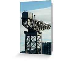 clydeport crane Greeting Card