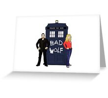 The Ninth Doctor and Rose Greeting Card