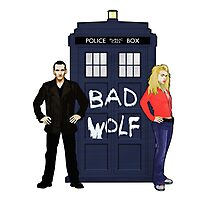 The Ninth Doctor and Rose Photographic Print