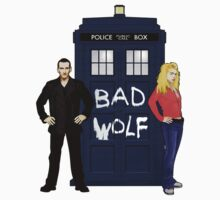 The Ninth Doctor and Rose Kids Tee